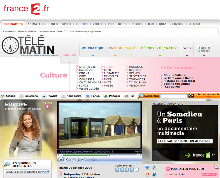 Feix&Merlin Architects Beach Hut – French Television, October 2009