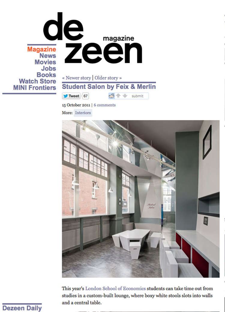 Feix&Merlin Architects Student Salon – Dezeen, October 2011