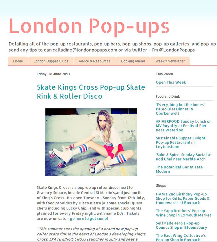 Feix&Merlin Architects Kings Cross Roller Rink – London Pop-ups, June 2013