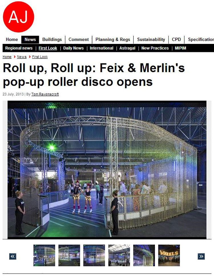 Feix&Merlin Architects Kings Cross Roller Rink – Architects Journal, July 2013