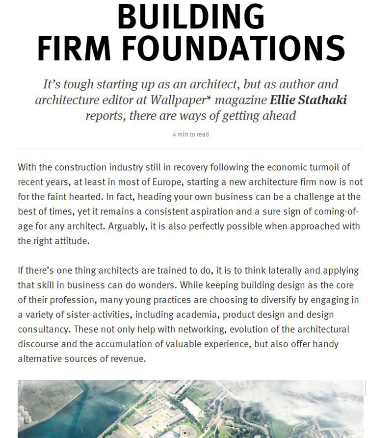 Feix&Merlin Architects F&M Feature – Artworks Journal, August 2013