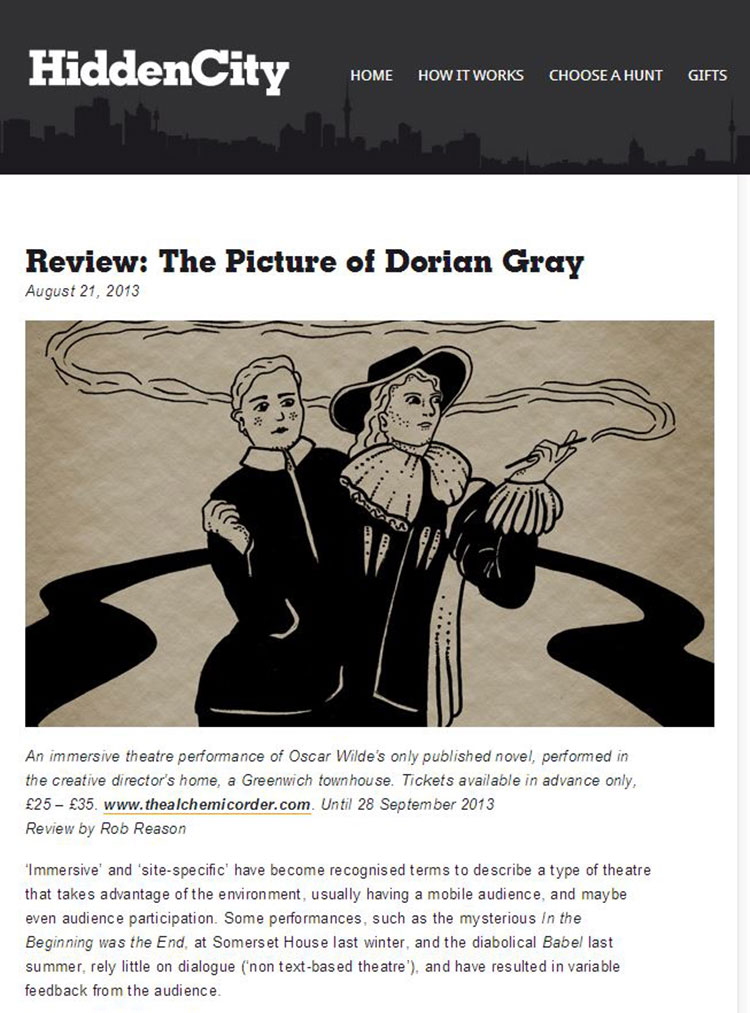 Feix&Merlin Architects The Picture of Dorian Gray – Hidden City, August 2013