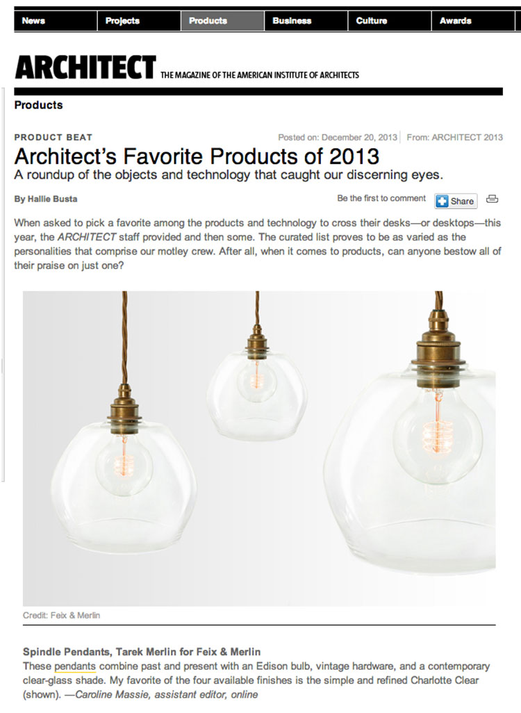 Feix&Merlin Architects TM for F&M – Architect magazine, December 2013