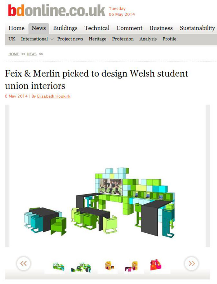 Feix&Merlin Architects Pontio – BD Online, May 2014
