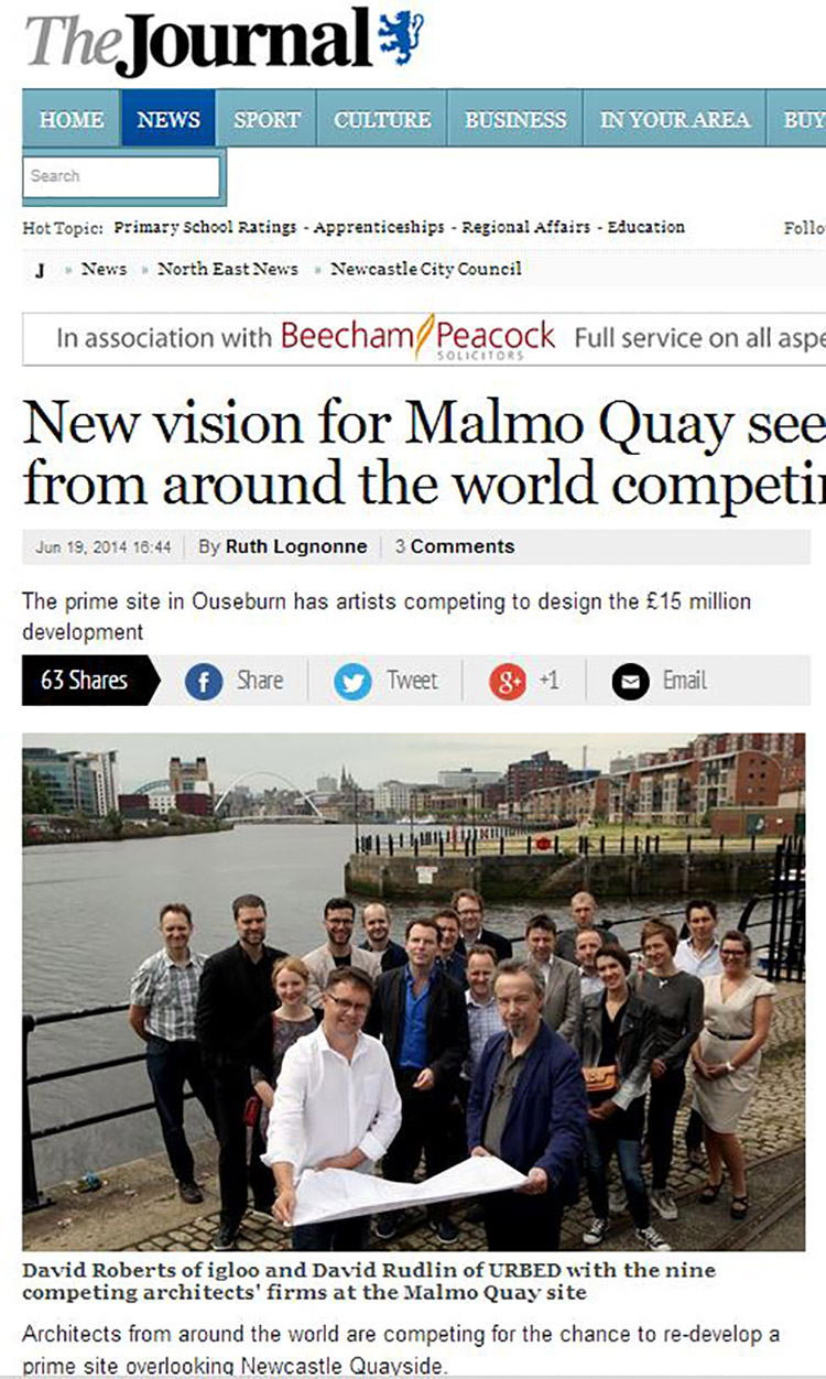 Feix&Merlin Architects Malmo Quay – The Journal, June 2014