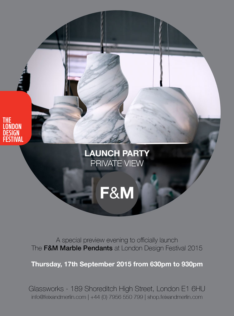 New Product Launch of the F&M Marble Pendants at LDF15