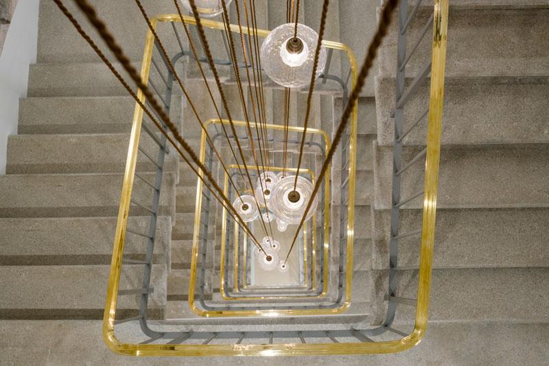 Chandelier installation New Cavendish Street