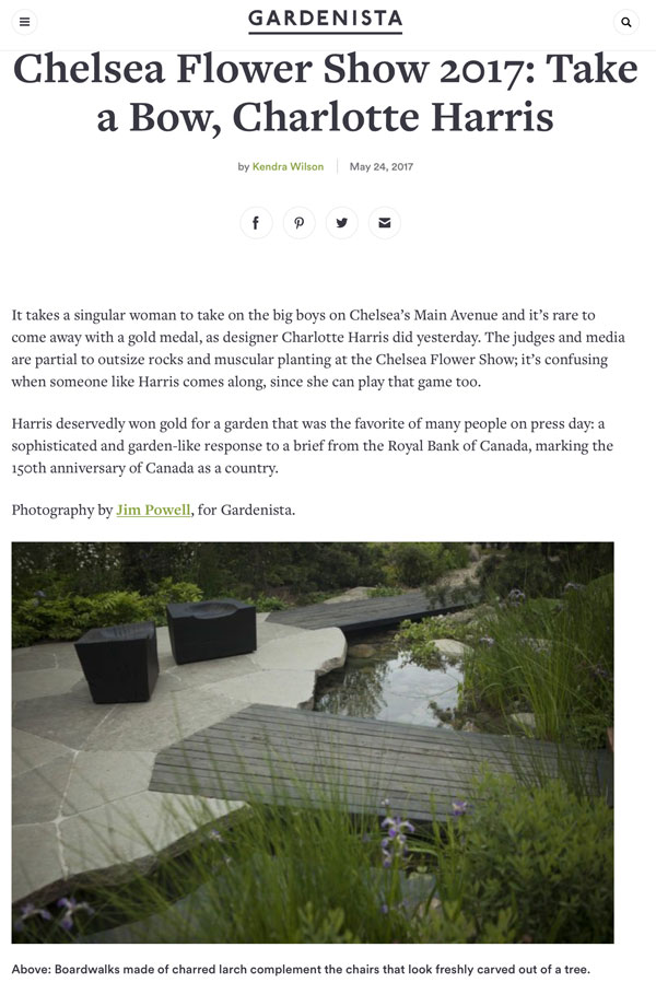 Feix&Merlin Architects Chelsea Flower Show 2017 featured in Gardenista