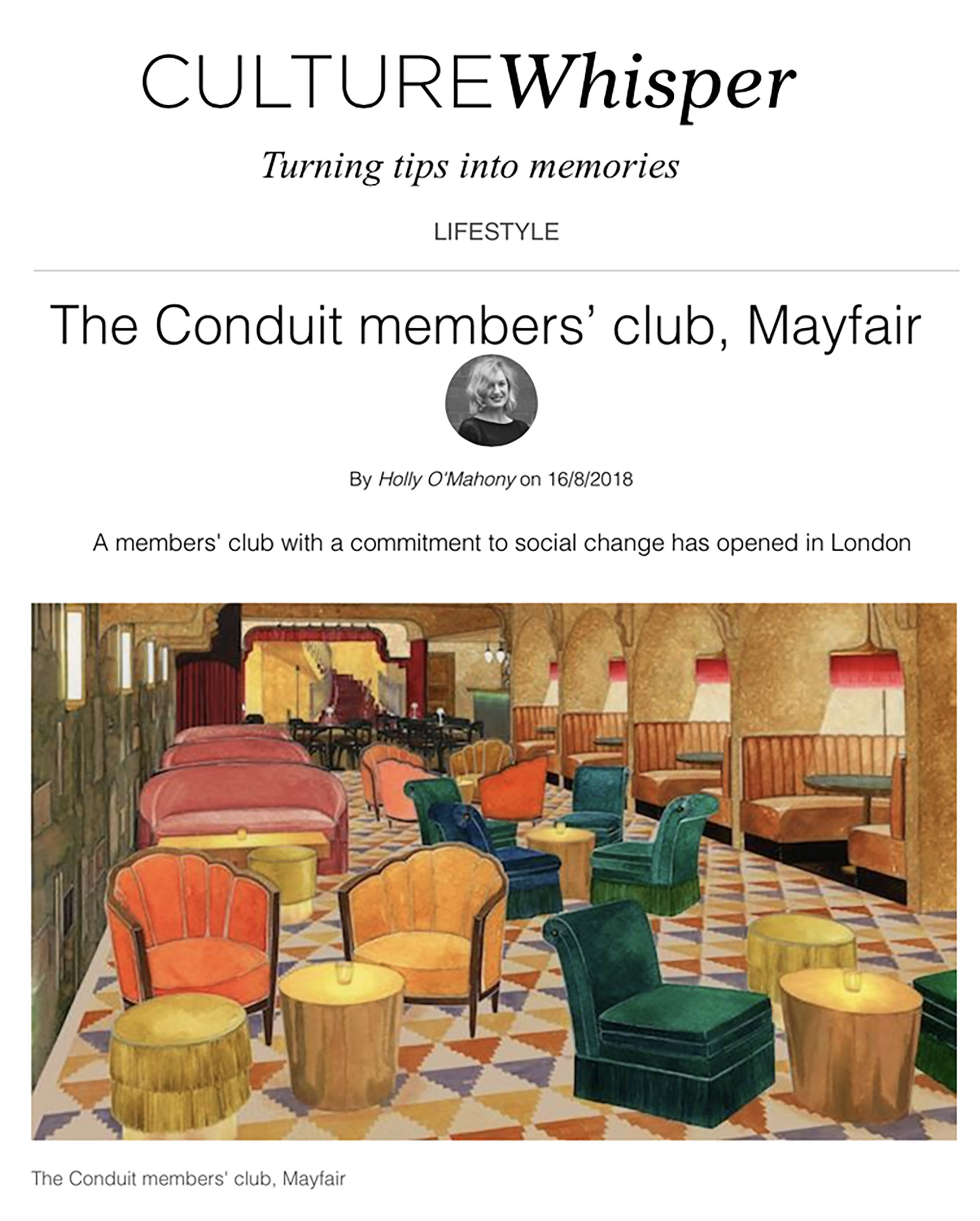 Culture Whisper: The Conduit a members' club with a commitment to social change