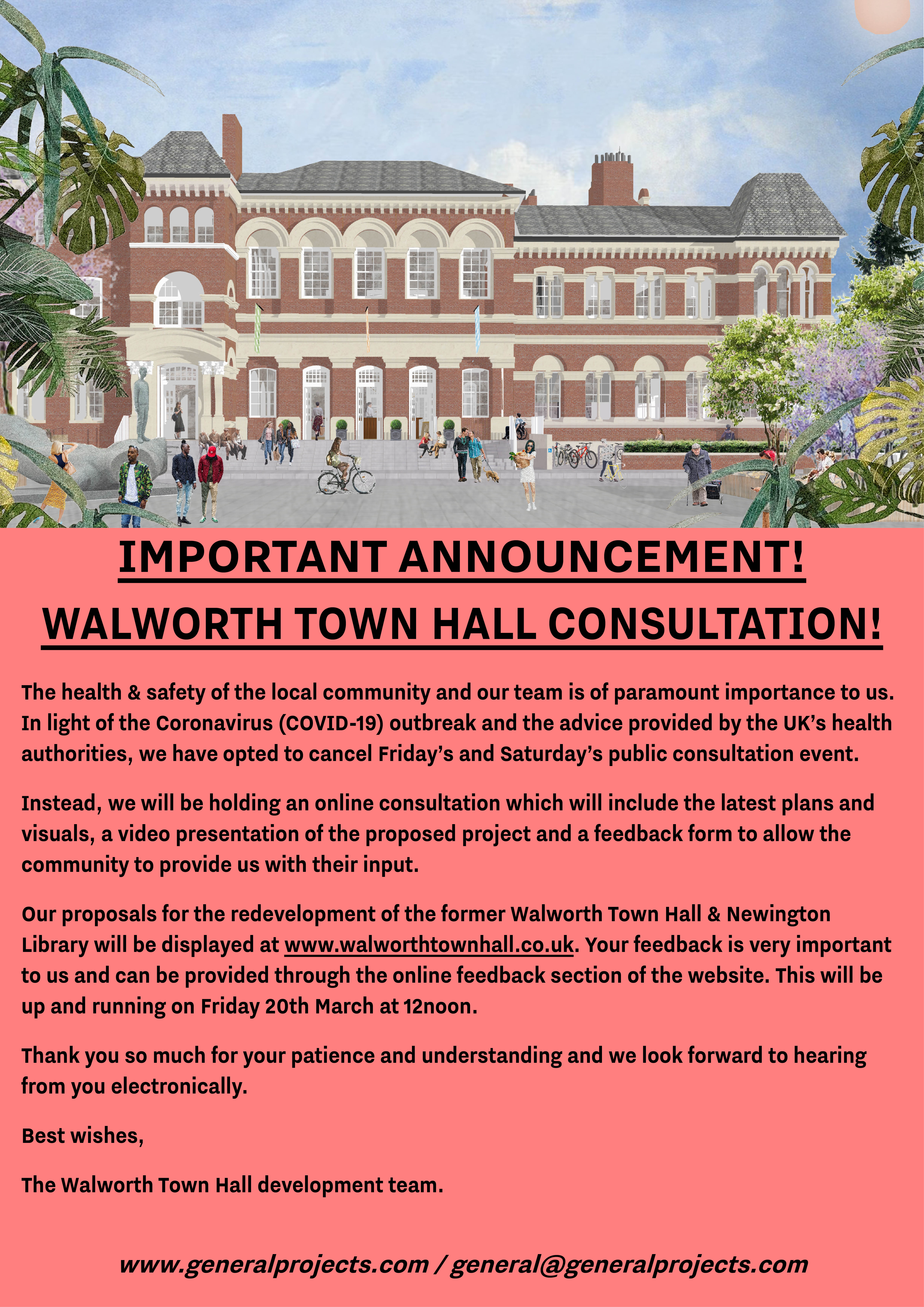 Walworth Town Hall & former Newington Library Public Consultation: Now Online