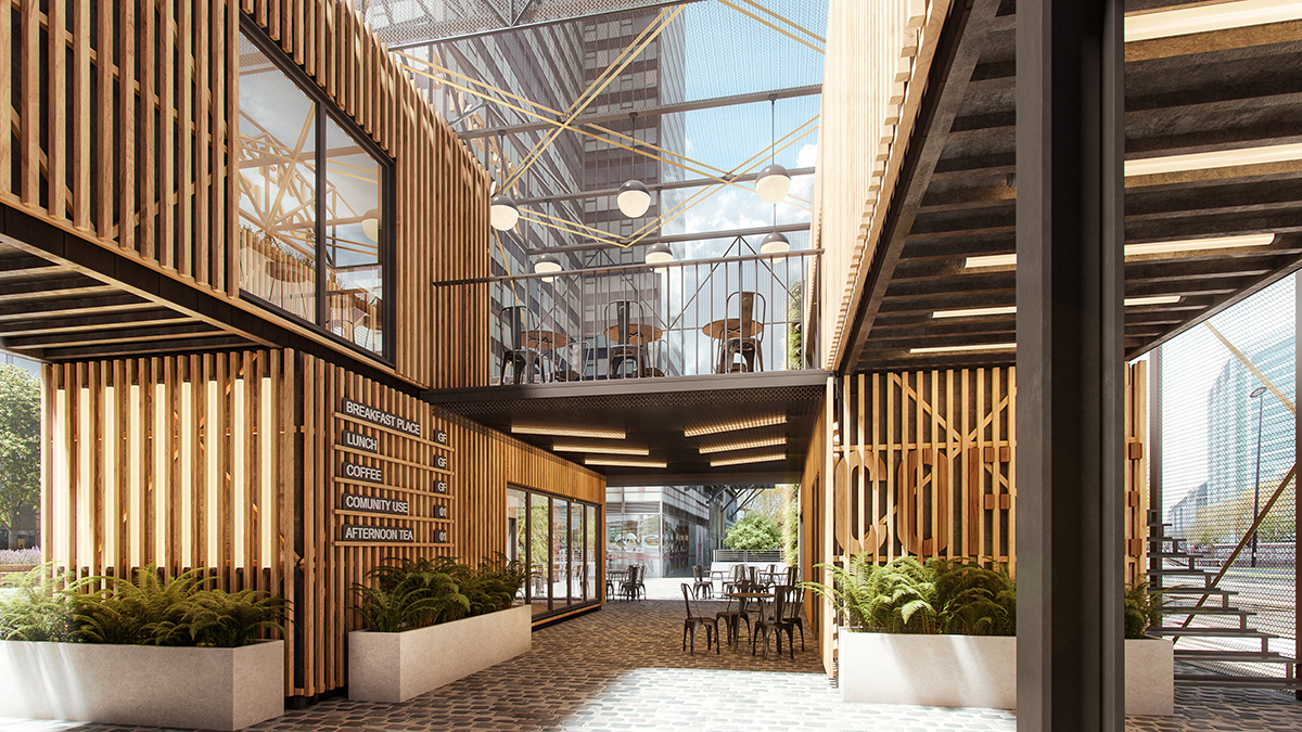 Regent's Place Pavilion submitted for Planning